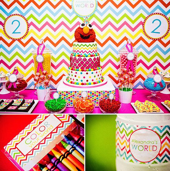 Girly Elmo Birthday Party: A Sesame Street Soiree
