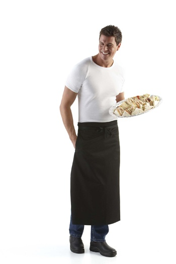 Continental Style Waist Apron Min 25   #Apron #PromotionalProducts - Continental style pocket apron excellent promo gear for the hospitality industry.  http://www.promosxchange.com.au/continental-style-waist-apron/p-8548.html