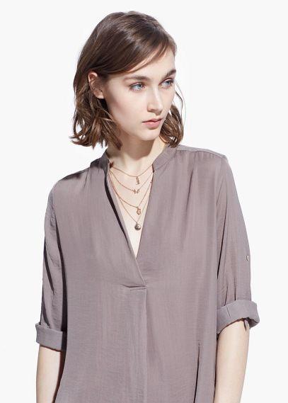 Flowy shirt dress   MANGO