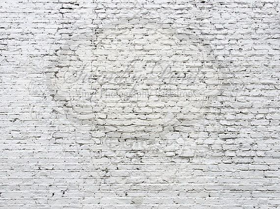 7ft X 5ft Distressed White Brick Wall PERFECT For Newborns And Children