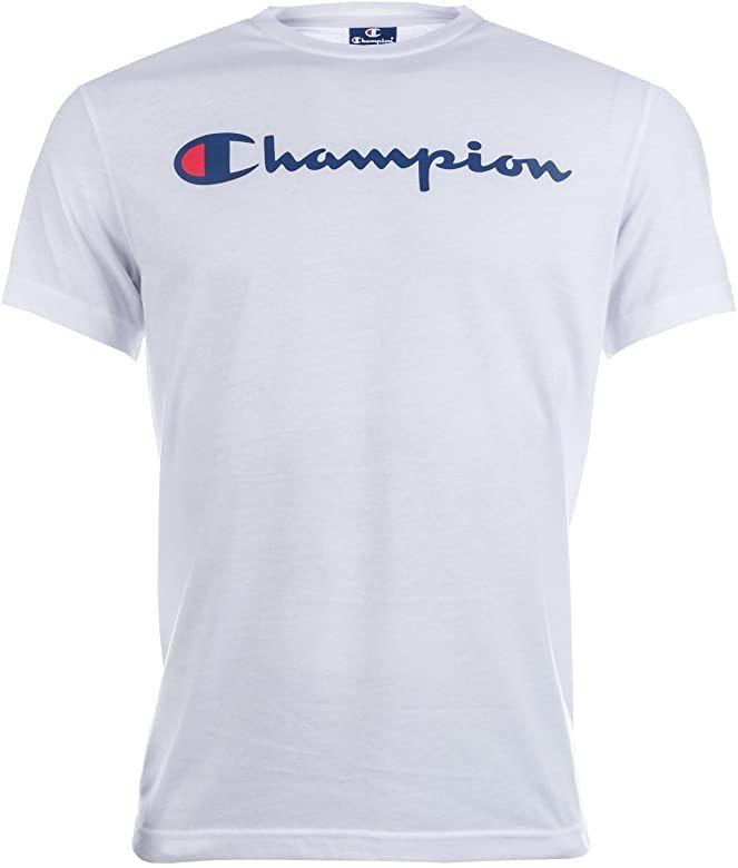 Champion Mens Mens Logo T Shirt In White Xl Amazon Co Uk