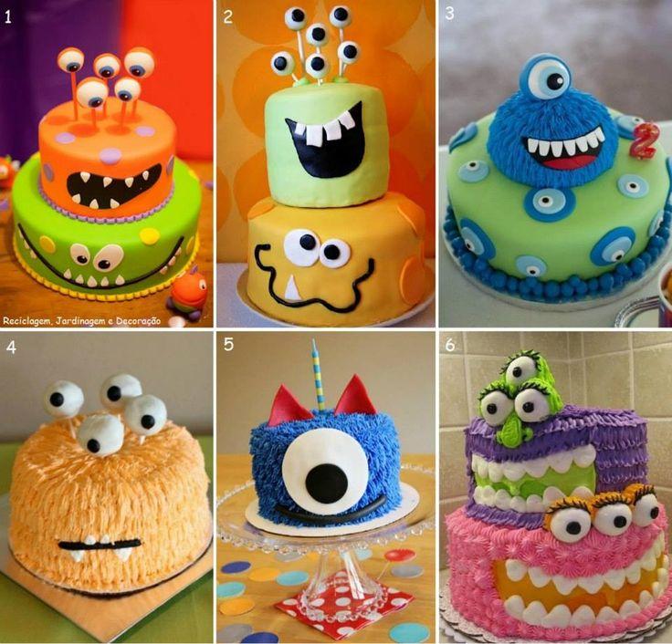 Monsters cake, kids birthday