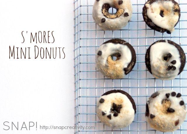 Smores Mini Donuts Recipe - perfect for summer.