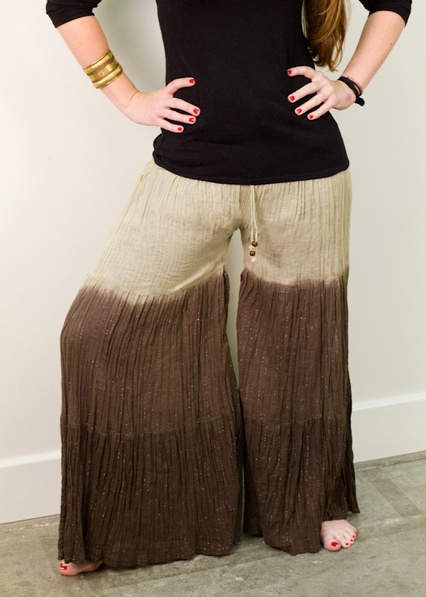 """A simple """"how to"""" on turning an old skirt into a pair of funky Palazzo pants! love it!"""