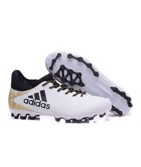 Adidas X 16.3 AG KUNSTGRÆS Mænd Fodboldstøvler Hvid Sort Guld