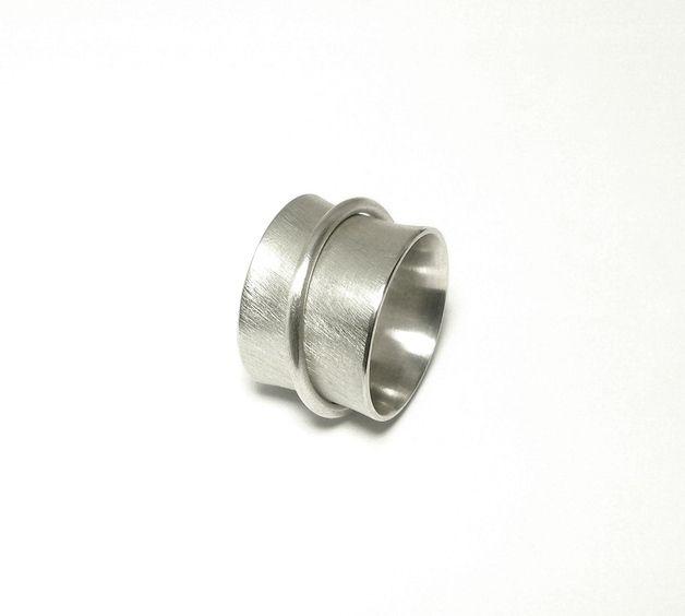 Silberringe - Breiter Drehring 925 Silber, 15mm - ein Designerstück von Mali-Design bei DaWanda
