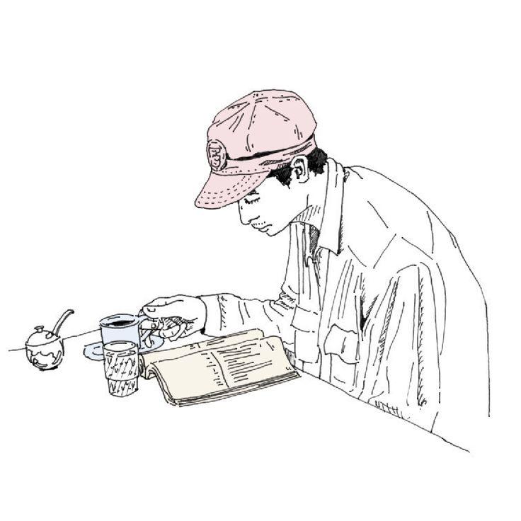 #VSCOcam #pen #picture #illust #illustagram #illustration #line #japan #creative #イラスト #アート #絵 #日本 #graphic #design #magazine #グラフィック #sketchaday #ink #デザイン #東京 #雑誌 #cafe #手描き #人物 #男性 #イラストレーション #カット #CPFU #Champion #喫茶