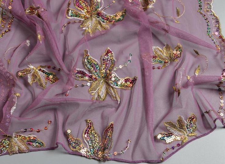 >> Click to Buy << Mesh shawl embroidery headscarf sequins wrap khaleeji hijab shawl fancy style free ship 170cm X 60cm #Affiliate