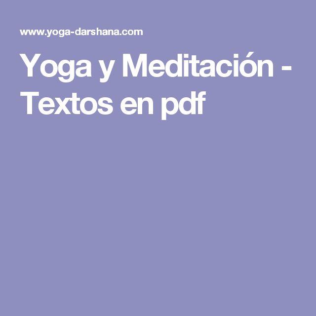 Yoga y Meditación - Textos en pdf