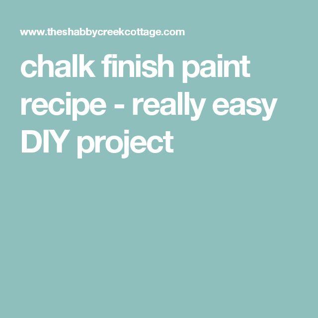chalk finish paint recipe - really easy DIY project