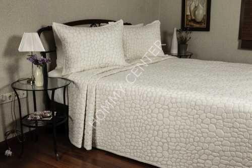 Begonville Pebbles Krem Yatak Örtüsü Çift Kişilik | Begonville | Yatak Setleri