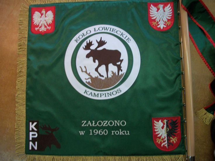 Sztandar koła łowieckiego Kampinos.
