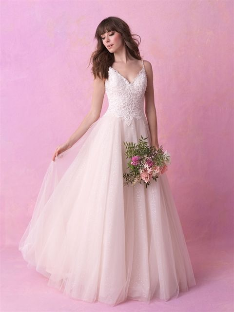 Allure Romance 3150 Sparkling Tulle And Embroidered Beading Accent