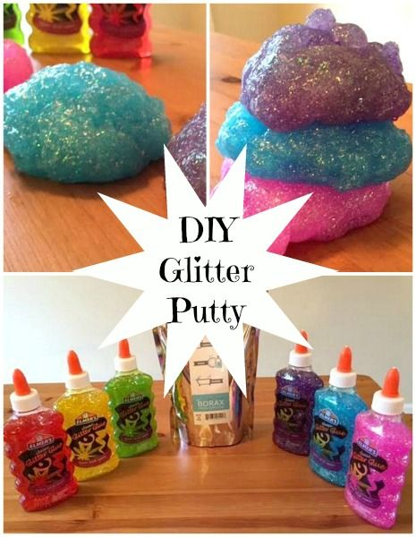How to make your own DIY Glitter Putty