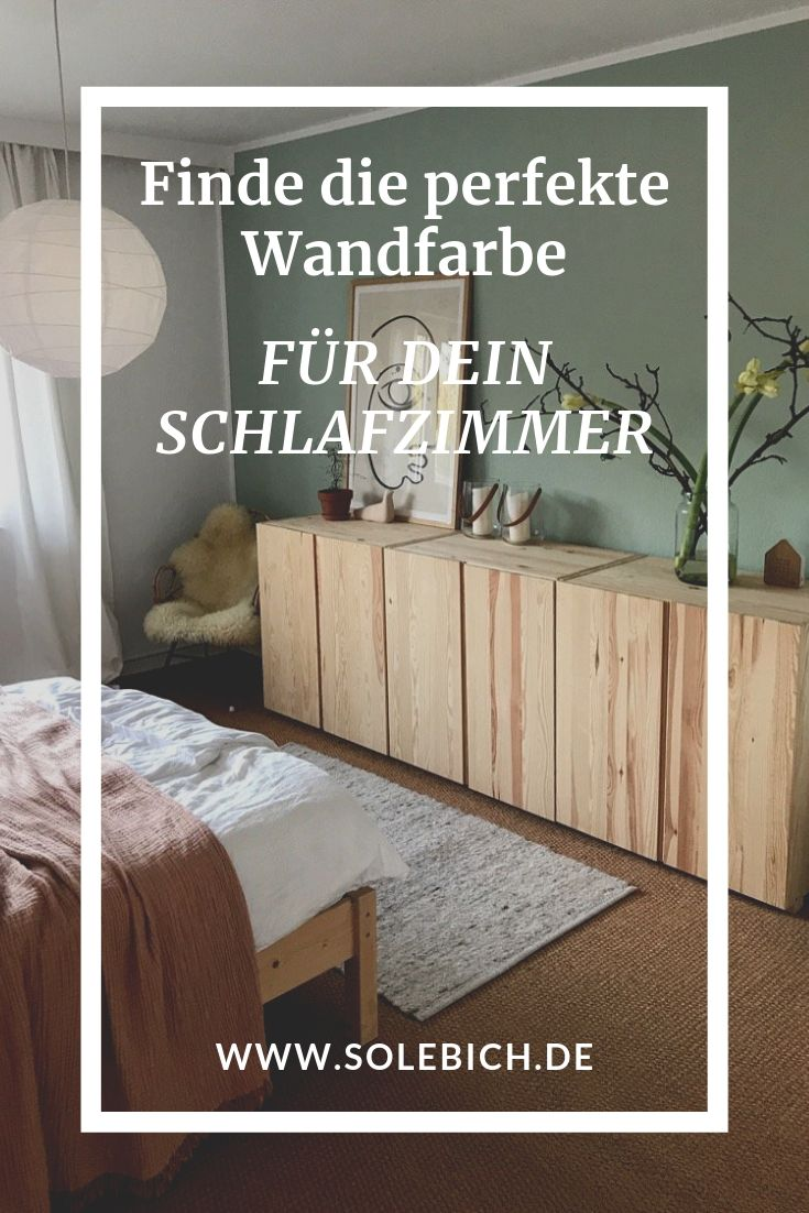 Find the perfect wall color for your bedroom! Photo: Schoene_kleine_welt #solebich #wall color #bedroom