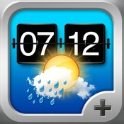 $0.99--Weather+--Weather+ gives you current weather conditions and a 5-day forecast of all worldwide weather stations. The information is visualized with beautiful full screen video loops for all conditions. This combined with a Flip Clock and a World Clock upgrades your ipad to a weather station like you never imagined.
