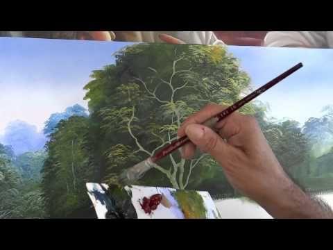 aprenda a pintar arvores  em mais uma  Vídeo Aula de  óleo sobre tela . em