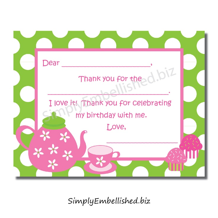22 best Thank you note Printables \ Ideas images on Pinterest - printable thank you note