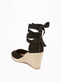 9b49ce039b9 Faux-Suede Espadrille Wedges For Women | sandals in 2019 ...