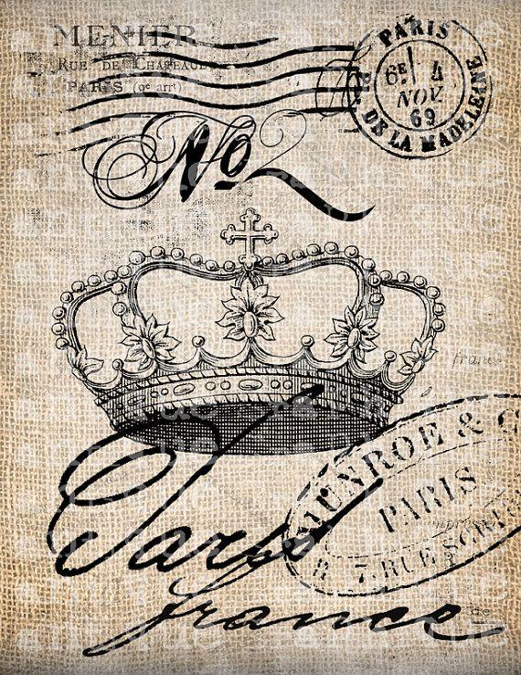 Antique Paris French Crown No 2 Postmarks от AntiqueGraphique