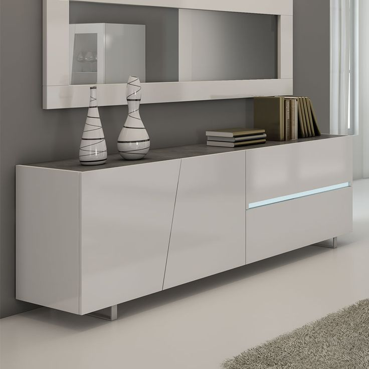meuble bas blanc laque buffet bas laque blanc. Black Bedroom Furniture Sets. Home Design Ideas