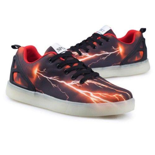 Adult Light Up Shoes Lightning