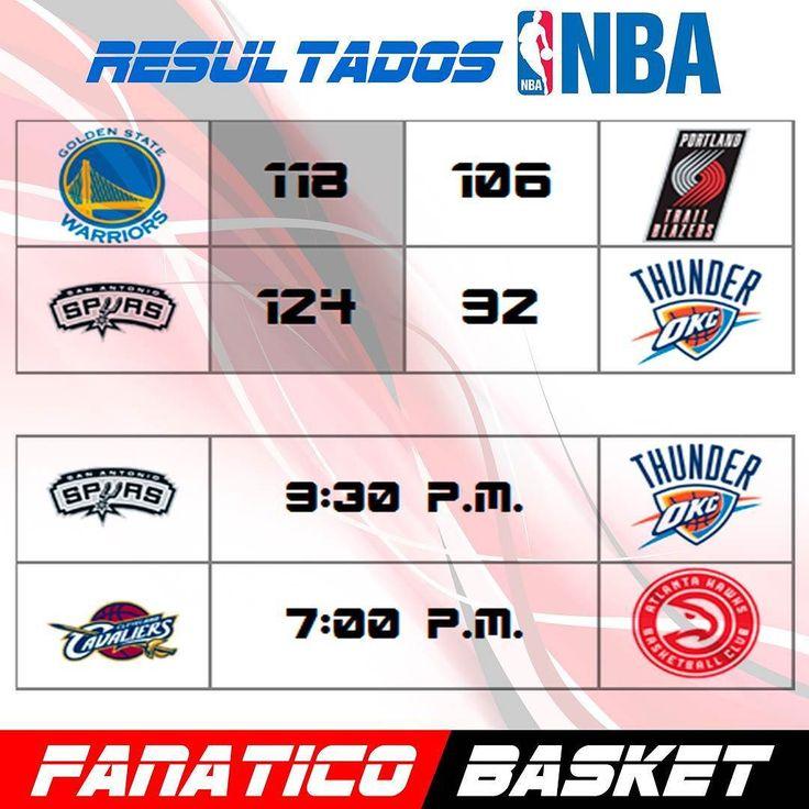 RESULTADOS Y PROXIMOS JUEGOS NBA #FanaticoBasket #Pasion #Por #El #Baloncesto #NBA #ThisisWhyWePlay #Basket #Basketball  #2016 #Sigueme