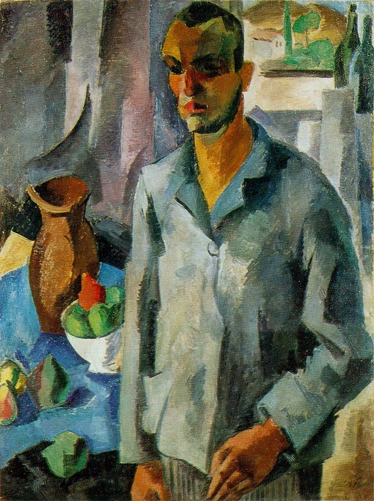 Robert Falk - Self Portrait against a window