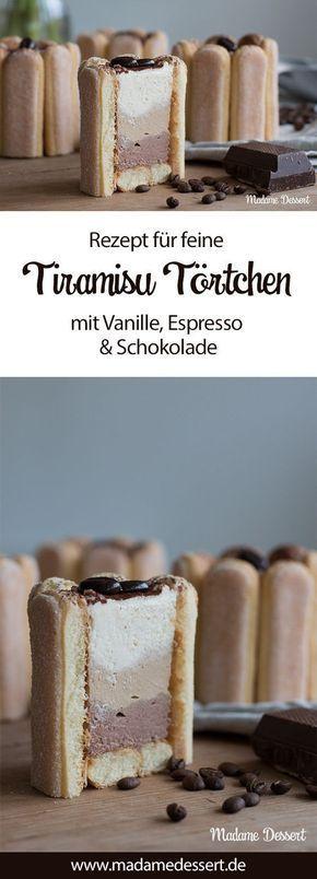 Rezept für deine Tiramisu Törtchen mit Vanille, Espresso & Schokolade