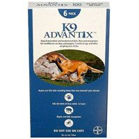 K9 Advantix Extra Large Dogs over 55 lbs (Blue) 6 + 1 Free Doses