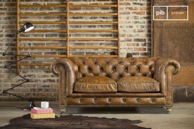 Un sofá vintage. El sofá Chesterfield Saint Paul te deja aprovechar de un ambiente club inglés.