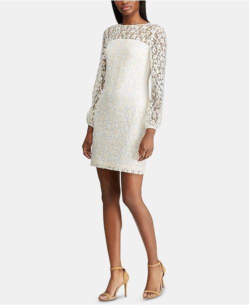 a1ee14e2 Lauren Ralph Lauren Petite Floral-Lace Dress - Dresses - Petites ...