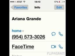 Image result for ariana grande phone number real 2016