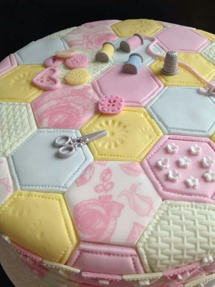 Patchwork cake (hmmm... sewing board or food board?... It's a toss up.)