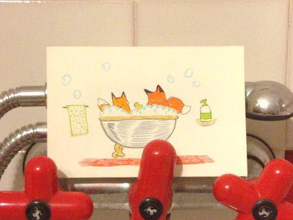 -92: VascaDaBagno - un appuntamento di volpe quasi quotidiano Bathtub - an almost daily fox's appointment #fox #animal #love #volpi #bath #bagno #relax