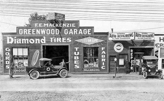 Greenwood Auto Sales >> Greenwood Garage Seattle   gas station stuff   Pinterest   Garages, Vintage auto and Gas pumps
