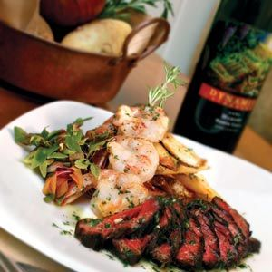 Surf & Turf - our kind of meal! | Dinner Date Cooking | Pinterest