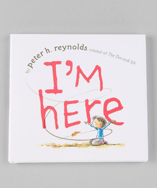 Take a look at this I'm Here Hardcover on zulily today!