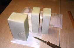 everything on HOW to actually make soap, including soap mold for tom to make and miter box cutting and diff patterns