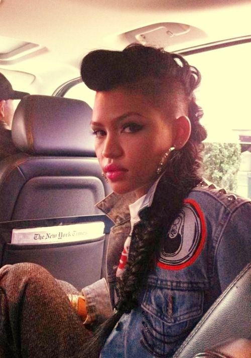 One Dope Blog Full Of Bad Bitches Fashion Amp Beauty Addict Pinterest Shaved Sides Fishtail