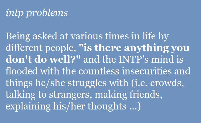 INTP problems