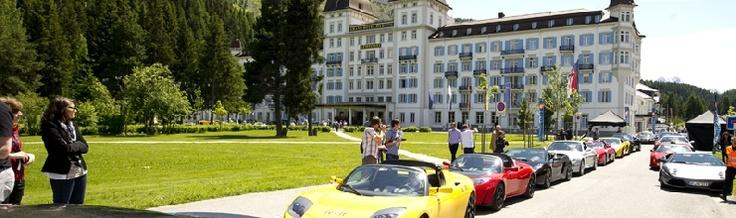 Sports car show - Engadin St. Moritz, Grisons, Switzerland