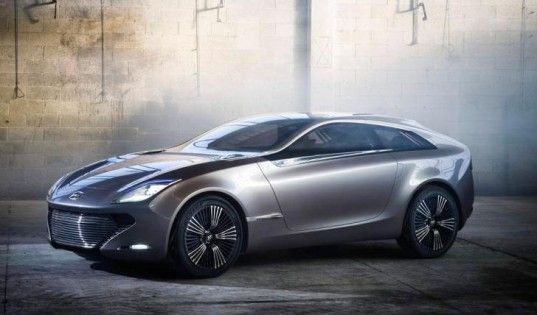 Sexy Hyundai i-oniq Hybrid Concept to Debut at the Geneva Motor Show  The four-passenger concept is powered by a 107 horsepower electric motor and a lithium-ion battery. A 1.0-liter three-cylinder engine extends the concept's driving range. i-oniq concept has an electric-only driving range of 75 miles, but thanks to the gas engine, the concept has a total driving range of 435 miles. #cars #hyundai #hybrid