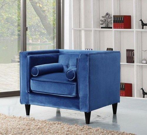 Taylor Light Blue Velvet Chair