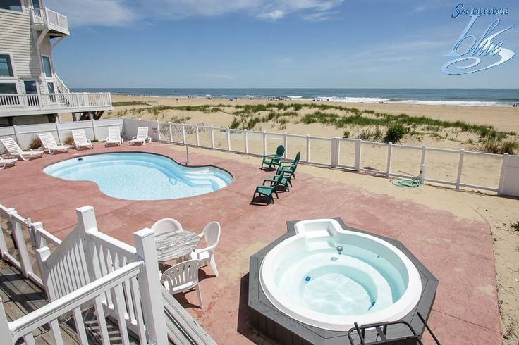 Sandbridge Blue property Mermaid Inn is a charming, 6 bedroom, oceanfront home. July weeks now on special!