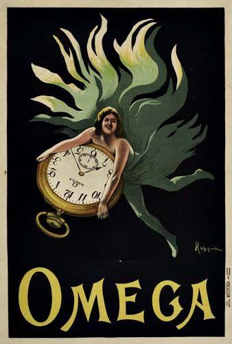 Montres Omega - 1910 - illustration de Leonetto Cappiello -