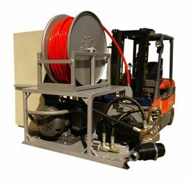 Custom sewer jetter for the University of Kentucky Hospitals made by Cam Spray.