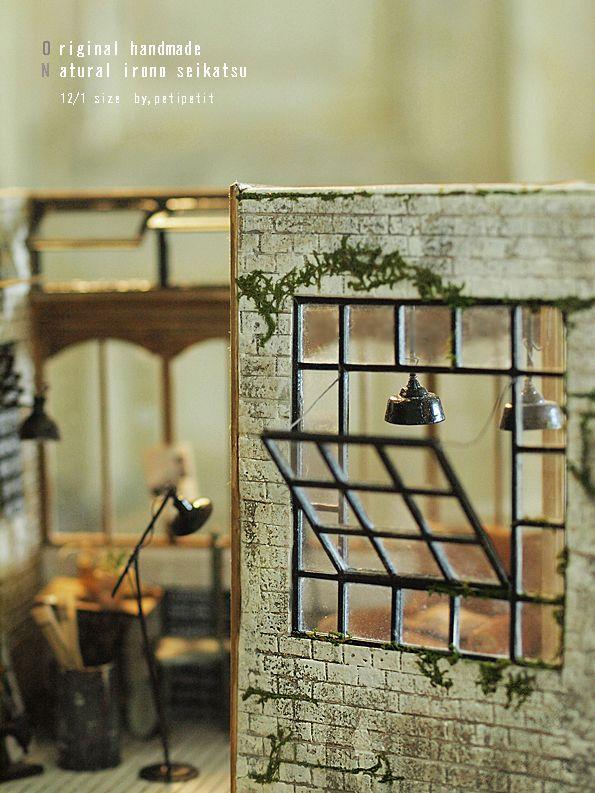 miniature window : natural色の生活~handmade家具