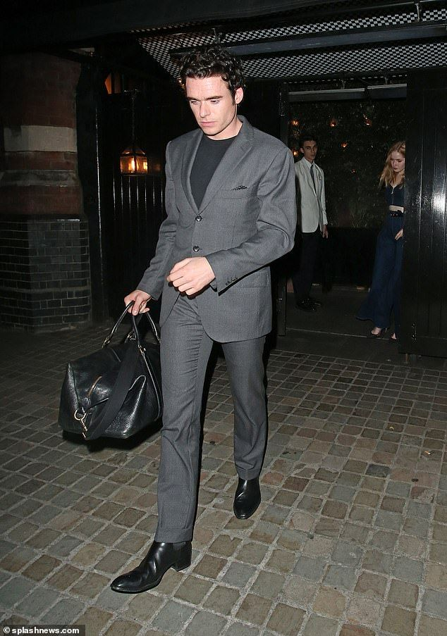 0243b0748e6 Bodyguard star Richard Madden enjoys glitzy night out with girlfriend Ellie  Bamber