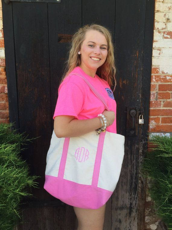 Monogrammed Tote Bag // Gifts for her // Bridesmaids // Sorority